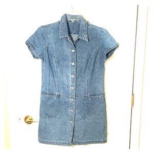 Vintage denim jeans dress